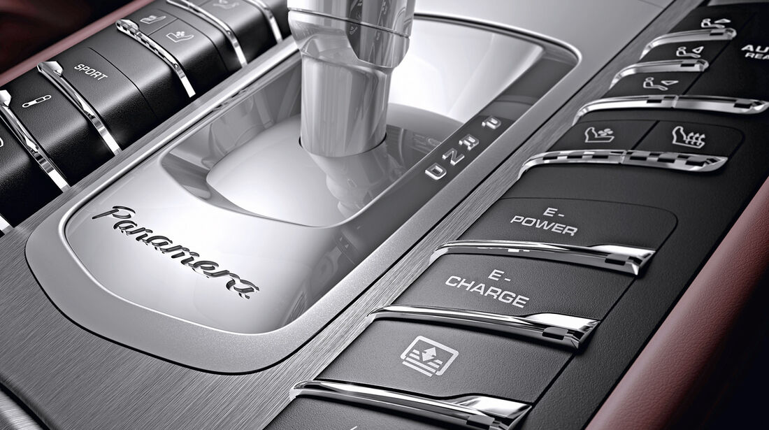 Porsche Panamera Plug-in-Hybrid, Schalthebel, Bedienelemente