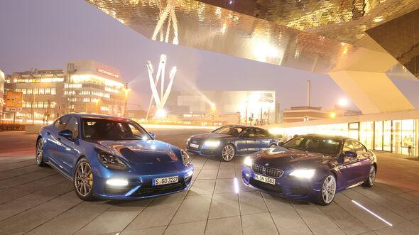 Porsche Panamera Turbo, BMW M6 Gran Coupé, Audi RS 7