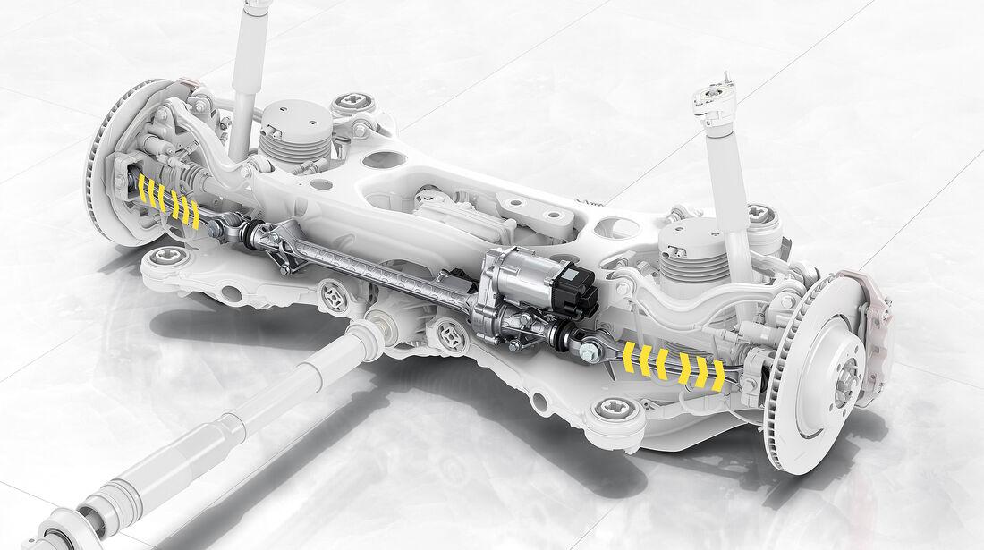Porsche Panamera Turbo: Hinterachslenkung