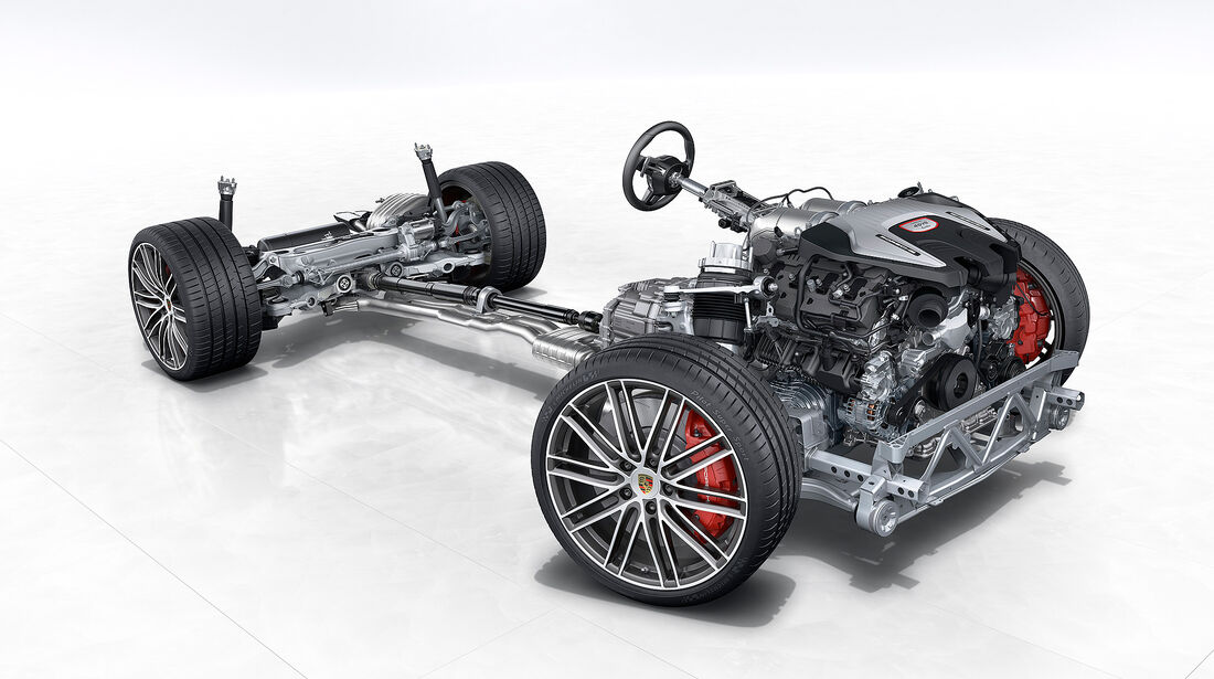 Porsche Panamera Turbo: Rolling Chassis