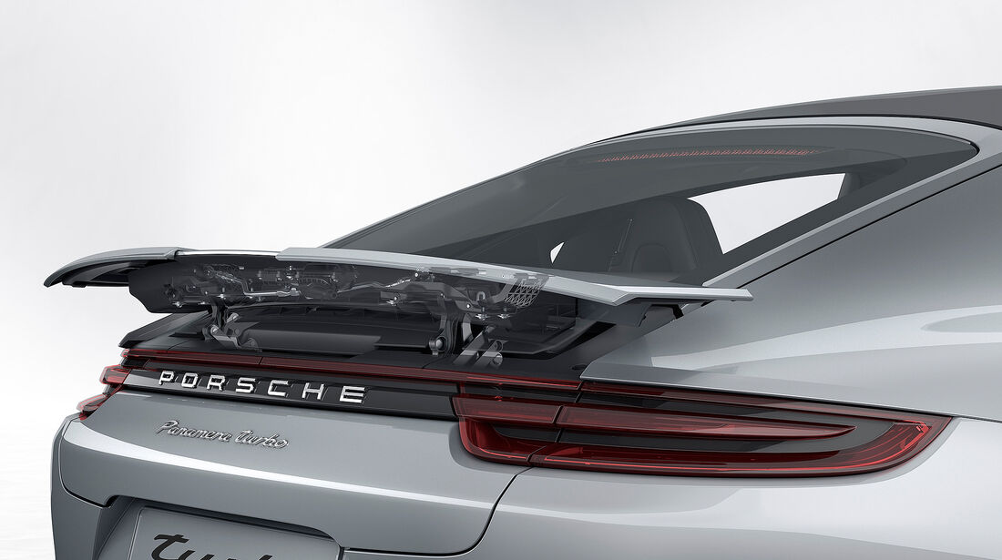 Porsche Panamera Turbo: adaptiver 4-Wege-Heckspoiler Durchsicht