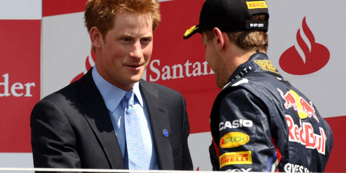 Prinz Harry Vettel GP England 2011 Rennen