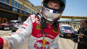 Qualifying-Sieger Mattias Ekstroem, Audi Sport Team Abt