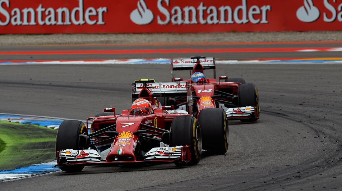 Räikkönen & Alonso - Ferrari - GP Deutschland 2014