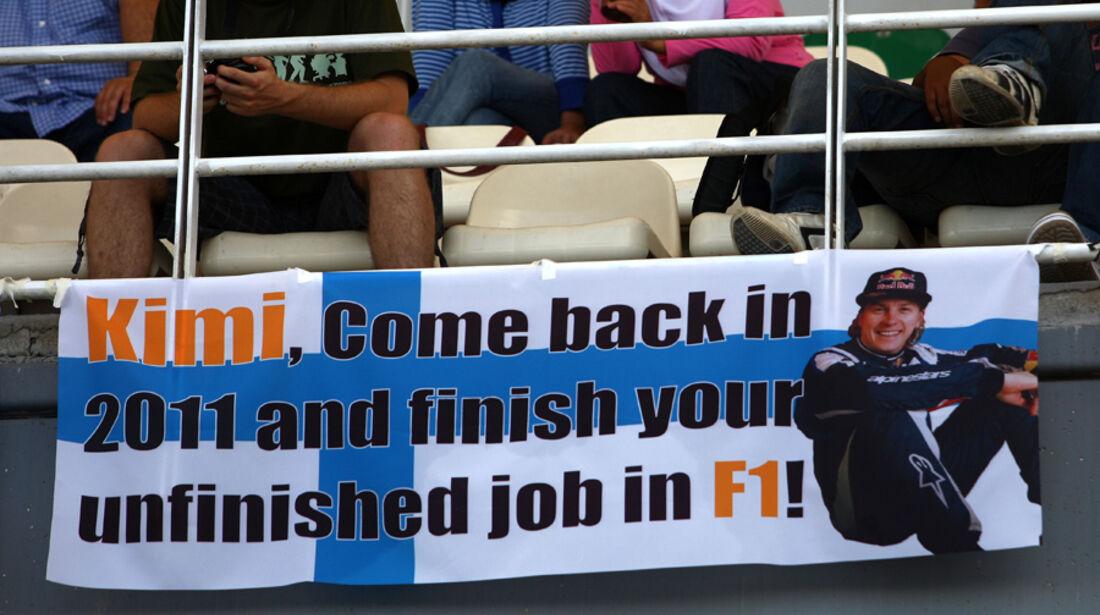Räikkönen Comeback Plakat 2010