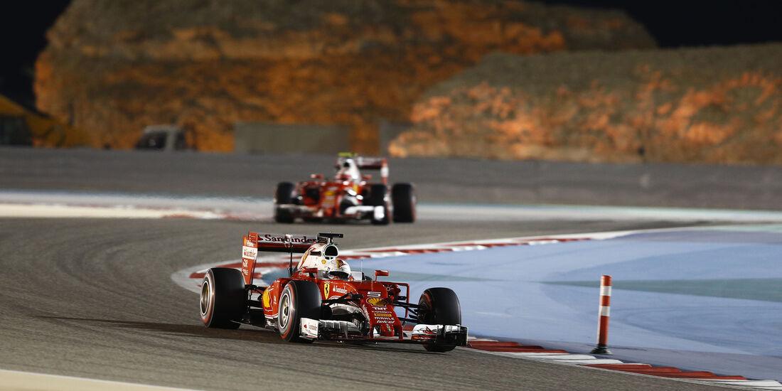Räikkönen & Vettel - Formel 1 - GP Bahrain - 2. April 2016