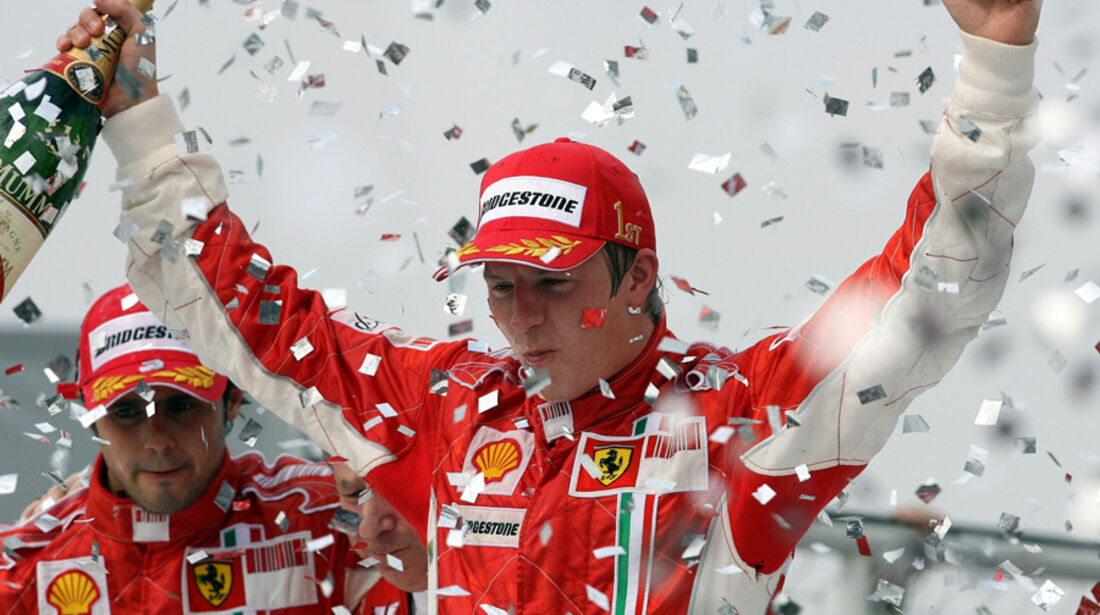 Räikkönen Weltmeister 2007 Brasilien