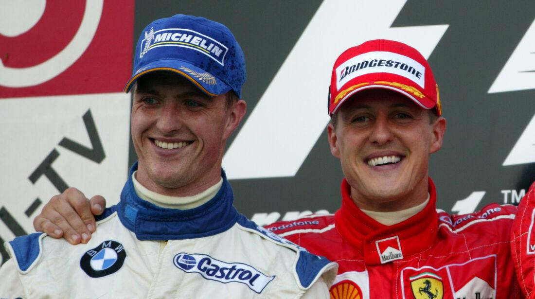 Ralf & Michael Schumacher - GP Japan 2004