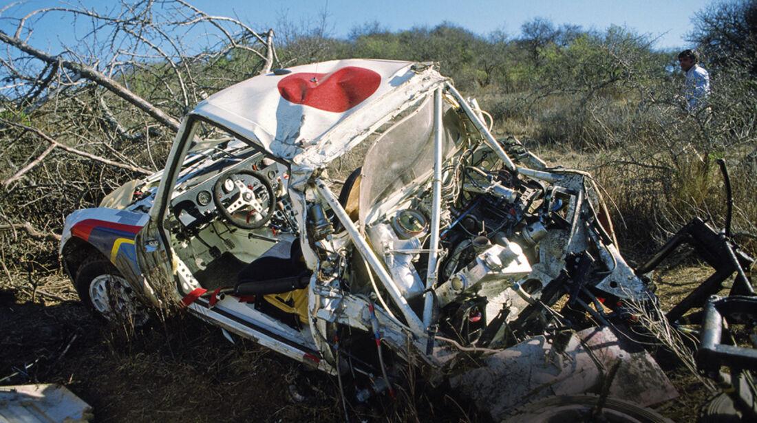 Ralley, Autowrack nach einem Unfall