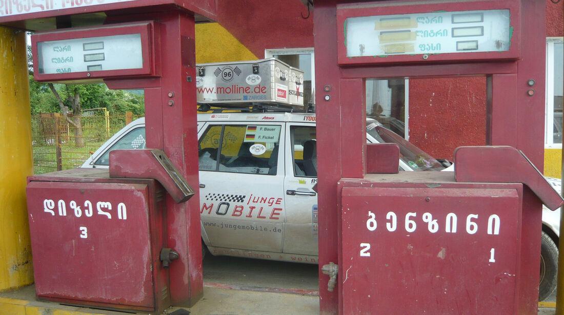 Rallye Allgäu-Orient, Tankstelle