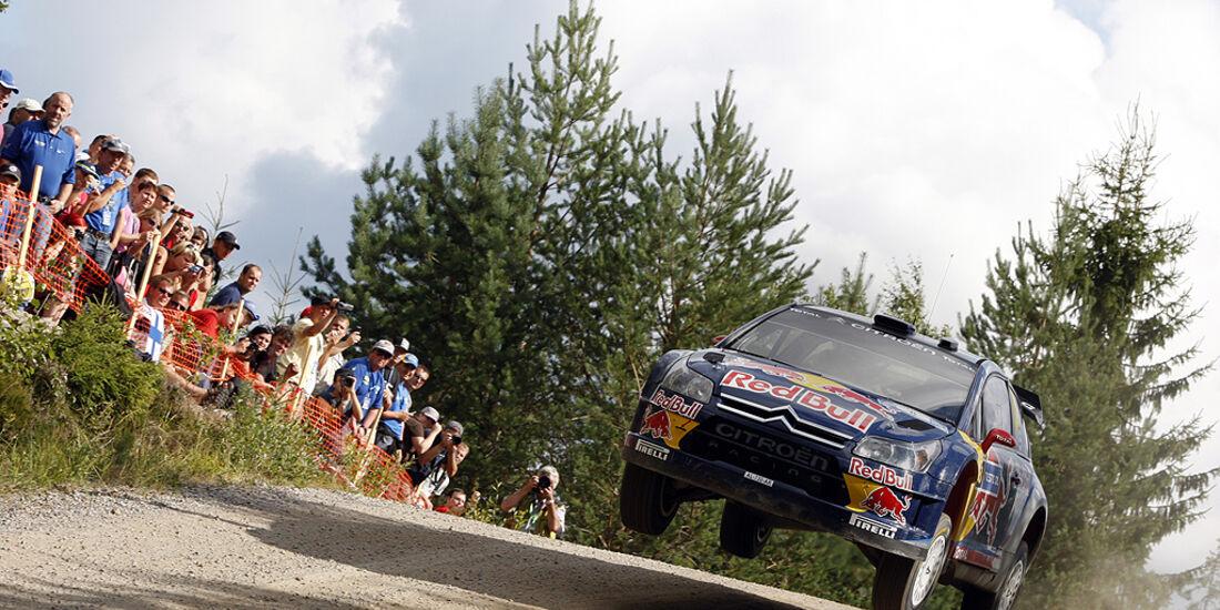 Rallye Finnland 2010, Räikkönen, Citroen C4 WRC, Sprung