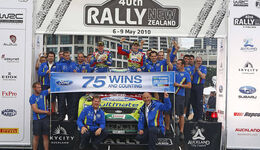 Rallye Neuseeland 2010, WRC, Ford, Siegerehrung, Focus WRC, Latvala