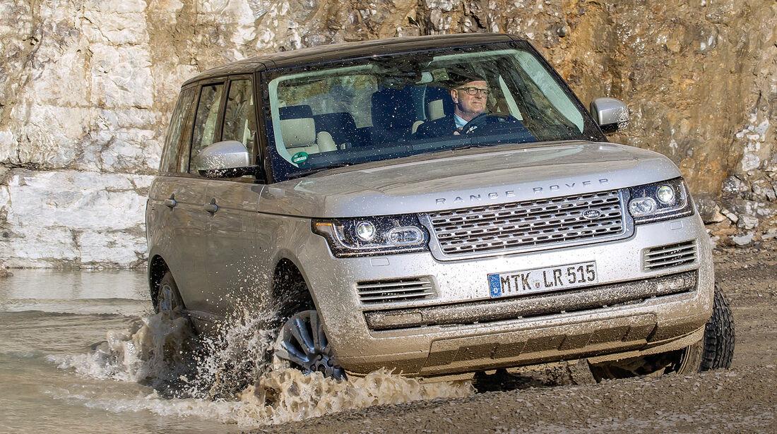 Range Rover 4.4 SDV8 Vogue, Frontansicht, Gelände