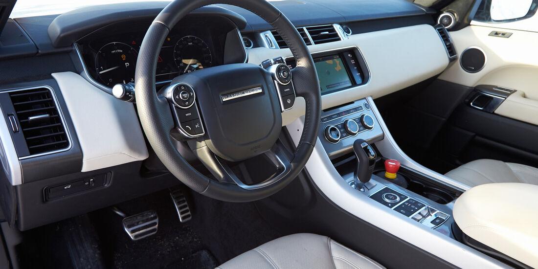 Range Rover Sport, Cockpit, Lenkrad