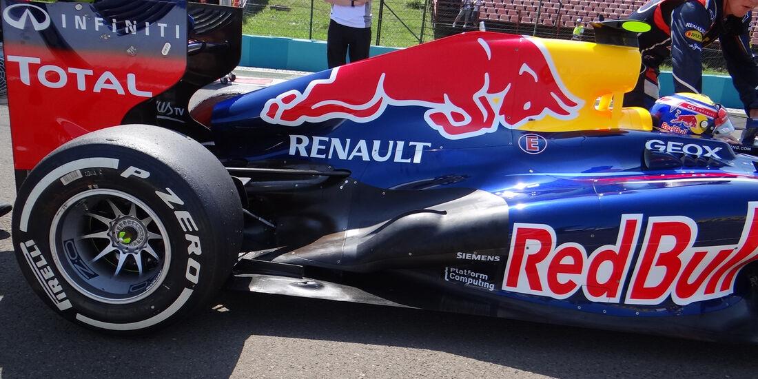 Red Bull Auspuff 2012