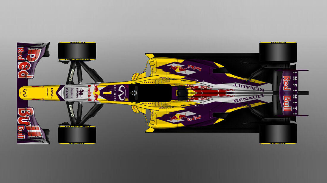 Red Bull - Formel 1 - Lackierung - Design-Concept