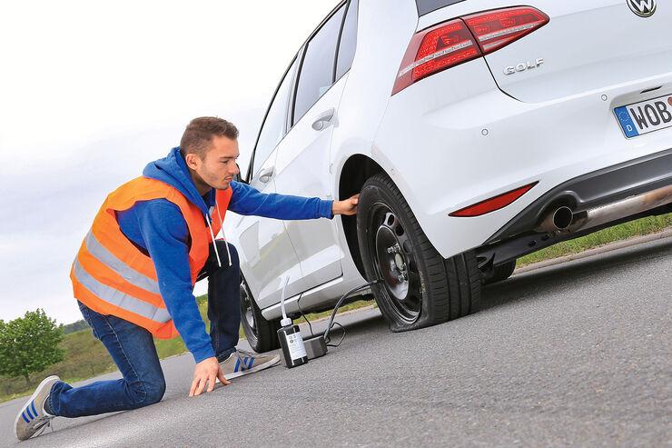 Reifen-Dichtkits, Test
