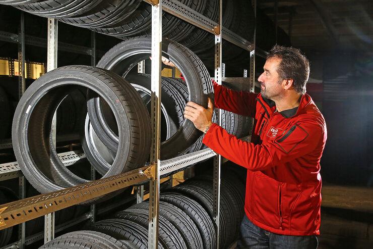 Reifenlagerung, Reifenstapel
