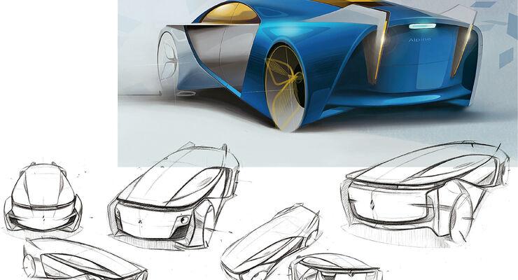 Renault Alpine, Design-Studien, Chunyue Zhai