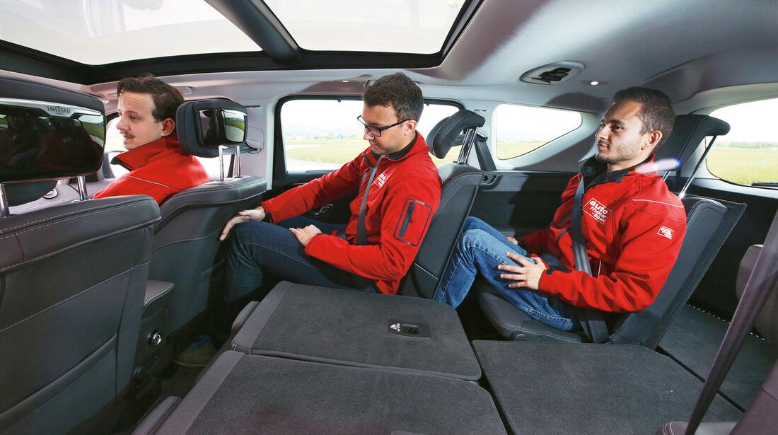 Renault Espace TCe 200, Fondsitz