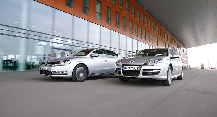 Renault Laguna dCi 110 FAP, VW Passat 1.6 TDI Bluemotion