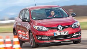 Renault Mégane Energy TCe 130, Frontansicht, Bremstest