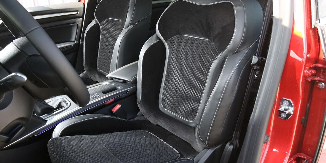 Renault Mégane dCi 130, Fahrersitz