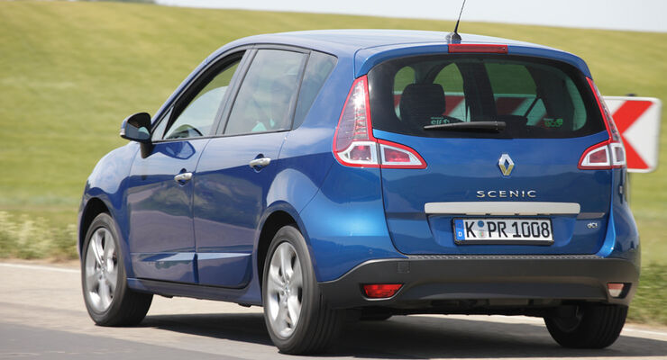 Renault Scenic dCi 110 FAP EDC, Rückansicht, Heck