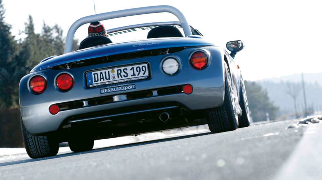 Renault Sport Spider, Heck