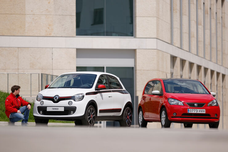 Renault Twingo, Seat Mii, Frontansicht
