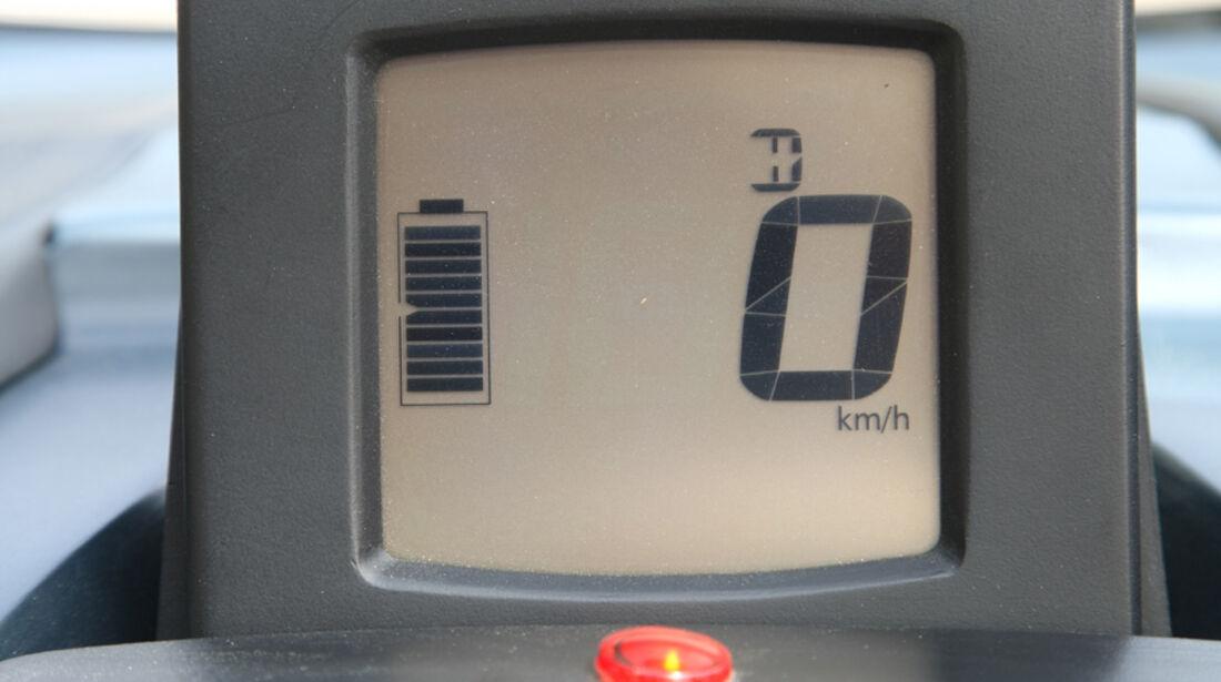 Renault Twizy, Batterieanzeige