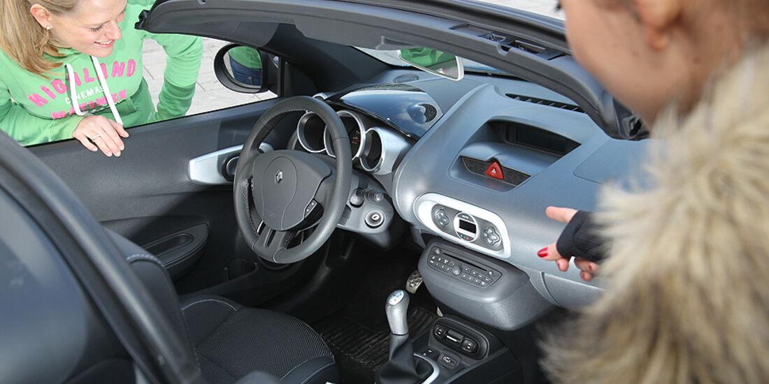 Renault Wind, Cabrio, Cockpit