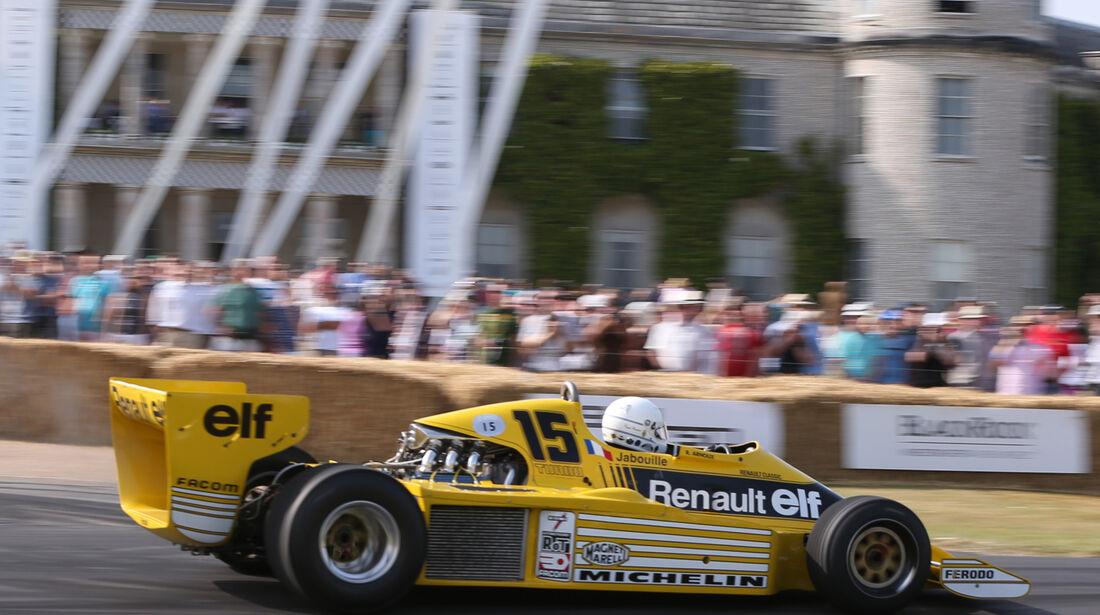 Rene Arnoux - Renault RS01 - Goodwood 2013