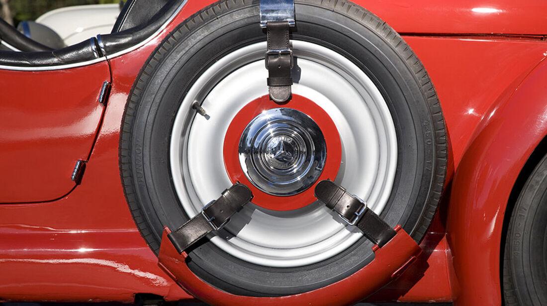 Reserverad des Mercedes-Benz 150 Sport Roadster