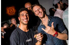 Ricciardo & Grosjean - Party Abu Dhabi - Amber Lounge 2016