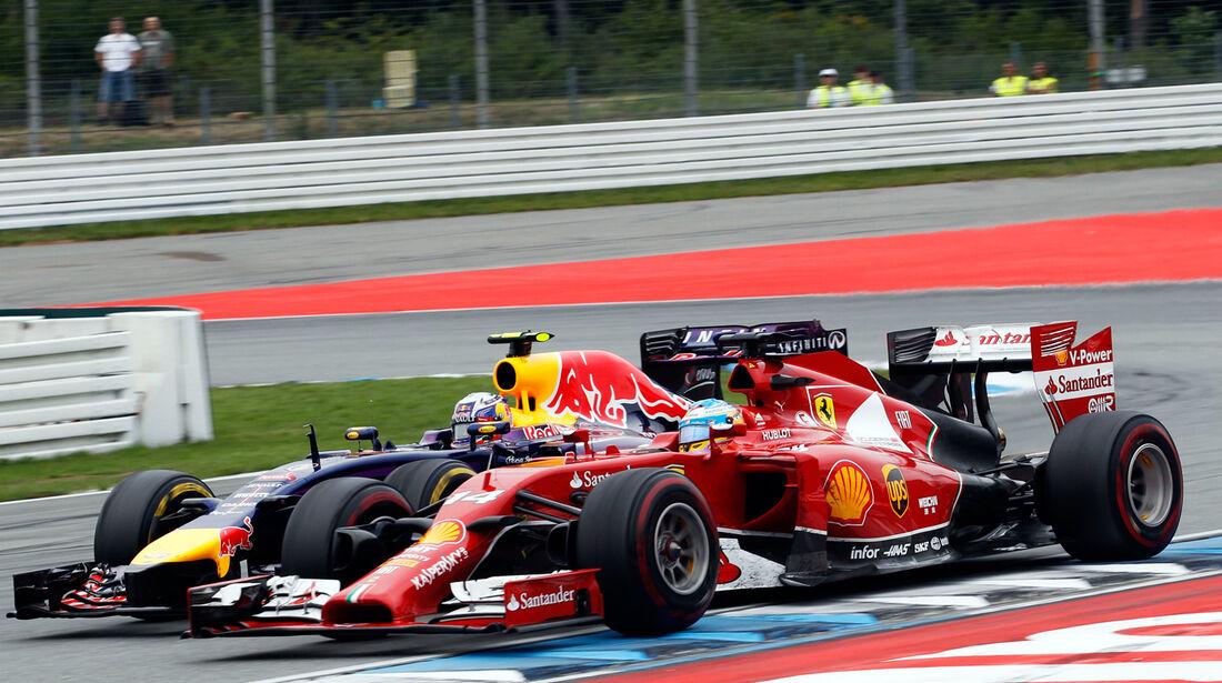 Ricciardo vs. Alonso - GP Deutschland 2014