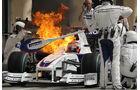 Robert Kubica - Feuer am BMW