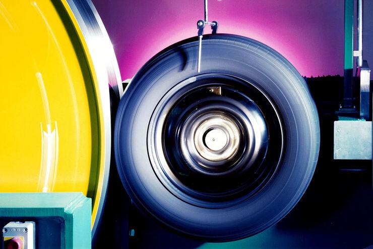 Rollwiderstandsarme Reifen, Prüfstand