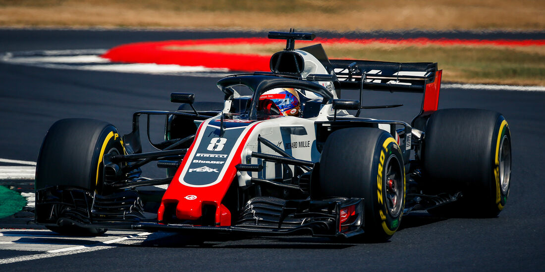 Romain Grosjean - GP England 2018