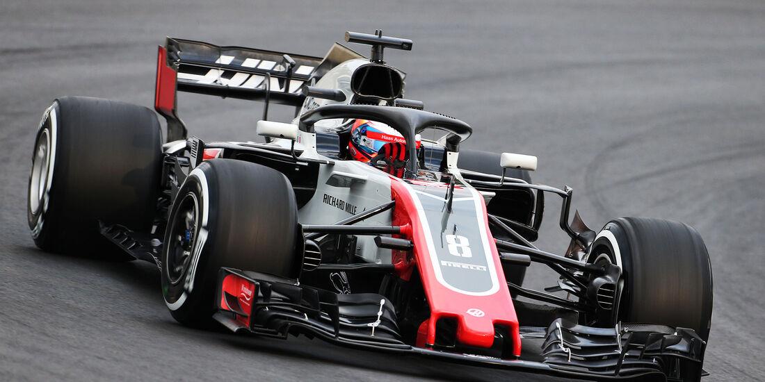 Romain Grosjean - HaasF1 - Barcelona F1-Test 2018 - Tag 1