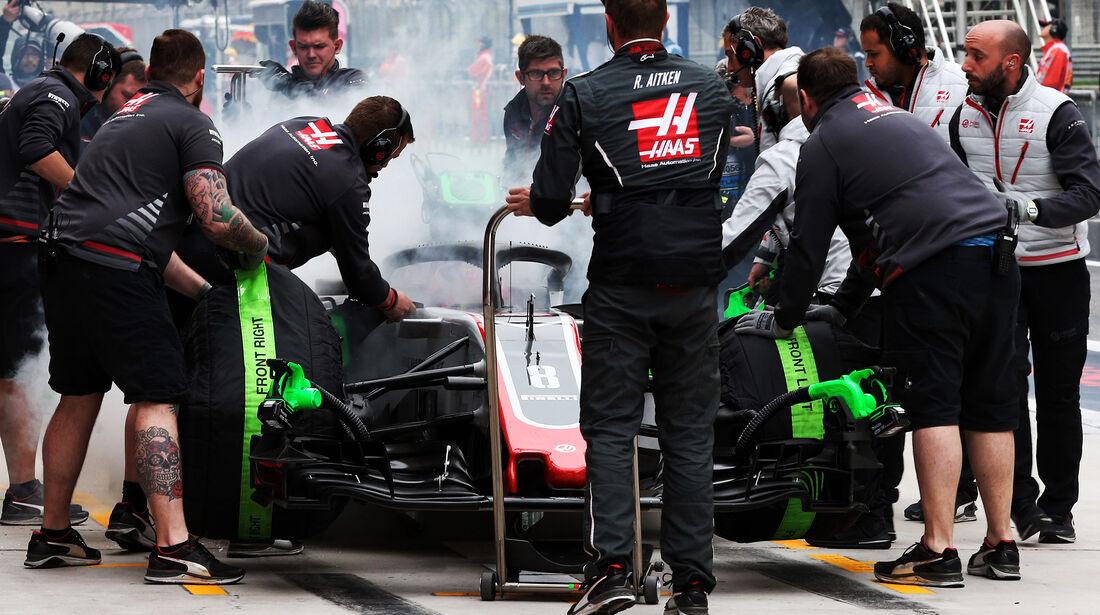 Romain Grosjean - HaasF1 - Formel 1 - GP China - Shanghai - 14. April 2018