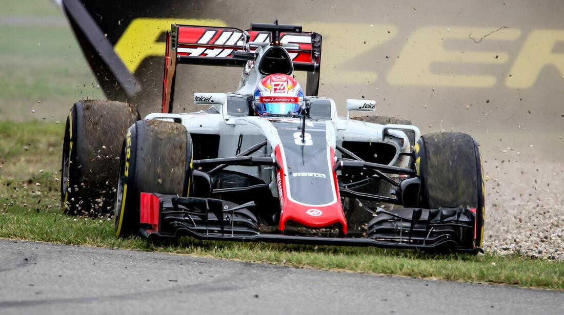 Romain Grosjean - HaasF1 - Formel 1 - GP Deutschland - Hockenheim - 29. Juli 2016