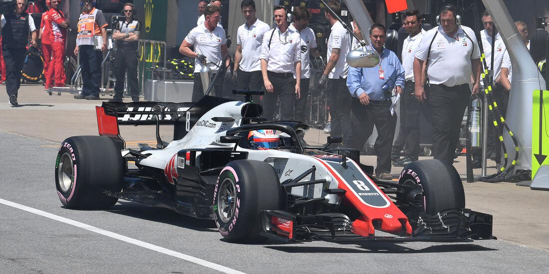 Romain Grosjean - HaasF1 - Formel 1 - GP Kanada - Montreal - 9. Juni 2018