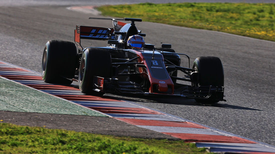 Romain Grosjean - HaasF1 - Formel 1 - Test - Barcelona - 2. März 2017