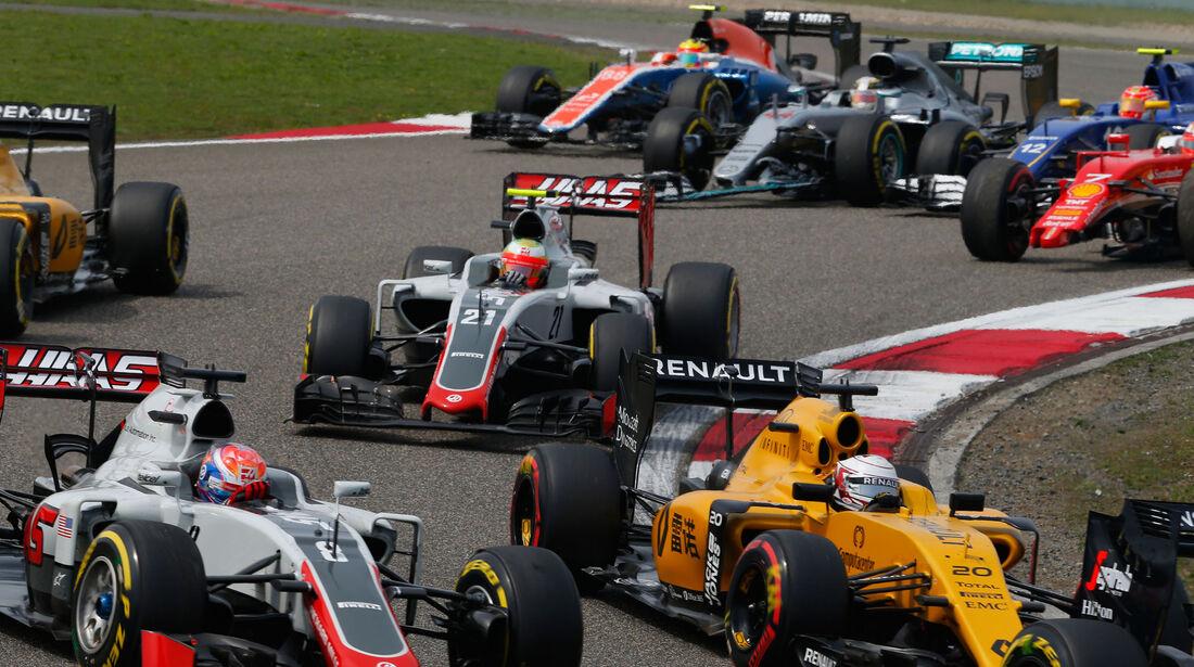 Romain Grosjean - HaasF1 - GP China 2016 - Shanghai - Rennen