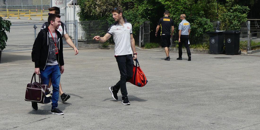 Romain Grosjean - HaasF1 - GP China - Shanghai - Donnerstag - 14.4.2016