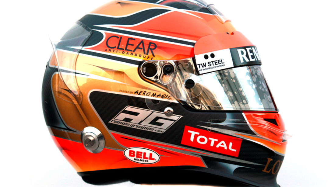 Romain Grosjean Helm 2012