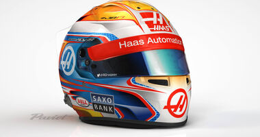 Romain Grosjean - Helm - Haas F1 - 2016