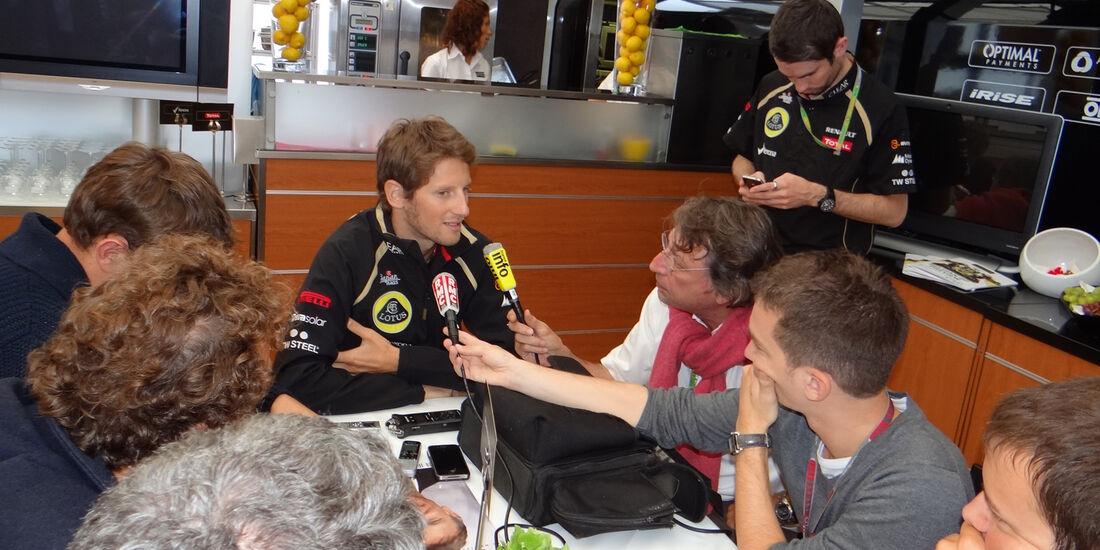 Romain Grosjean - Lotus - Formel 1 - GP Belgien - Spa - 30.8.2012