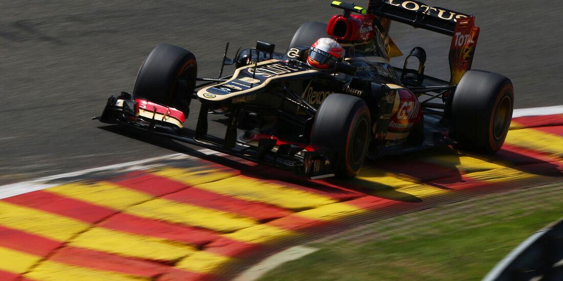 Romain Grosjean - Lotus - Formel 1 - GP Belgien - Spa-Francorchamps - 23. August 2013